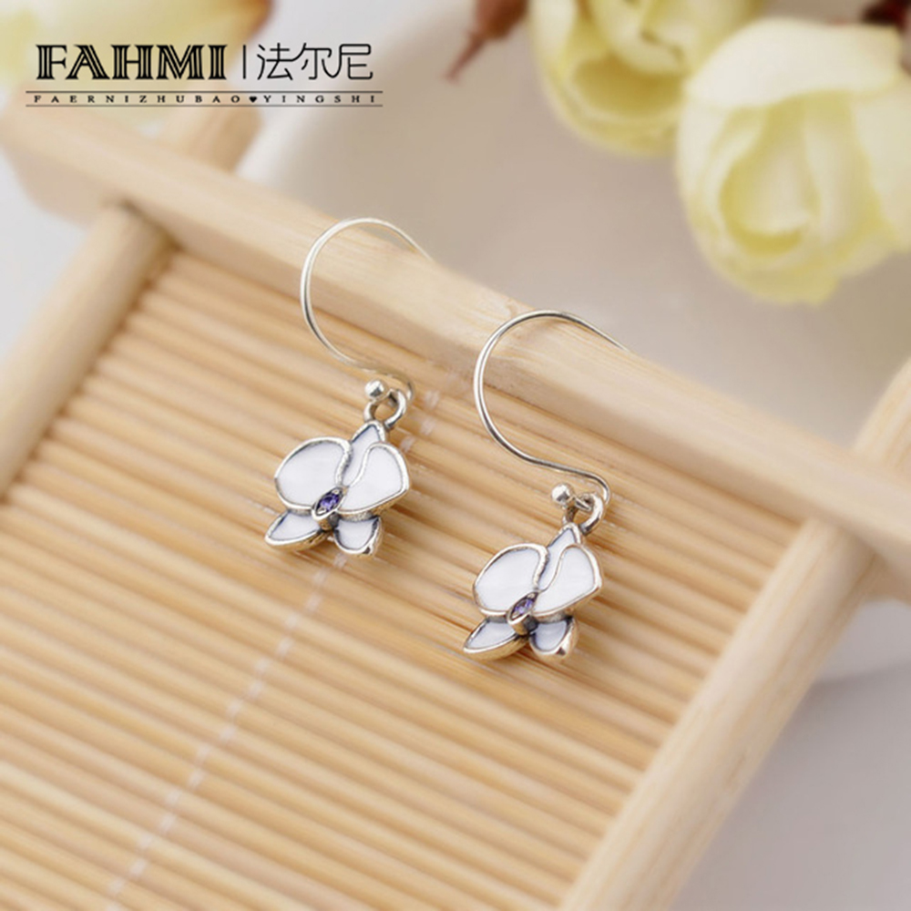 FAHMI Romantic Jewelry 2018 Stud Earrings For Wedding Elegant Silver Color AAA Cubic Zirconia Stone Earring Free Shopping 1