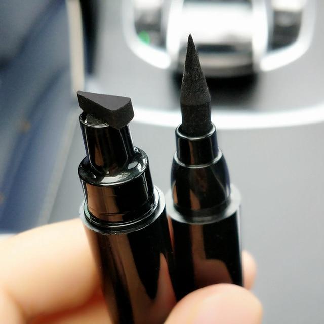 Black Liquid Eyeliner Stamp Marker Pencil Waterproof Stamp Double-ended Eye Liner Pen Cosmetic Eyliner 5 Styles 4