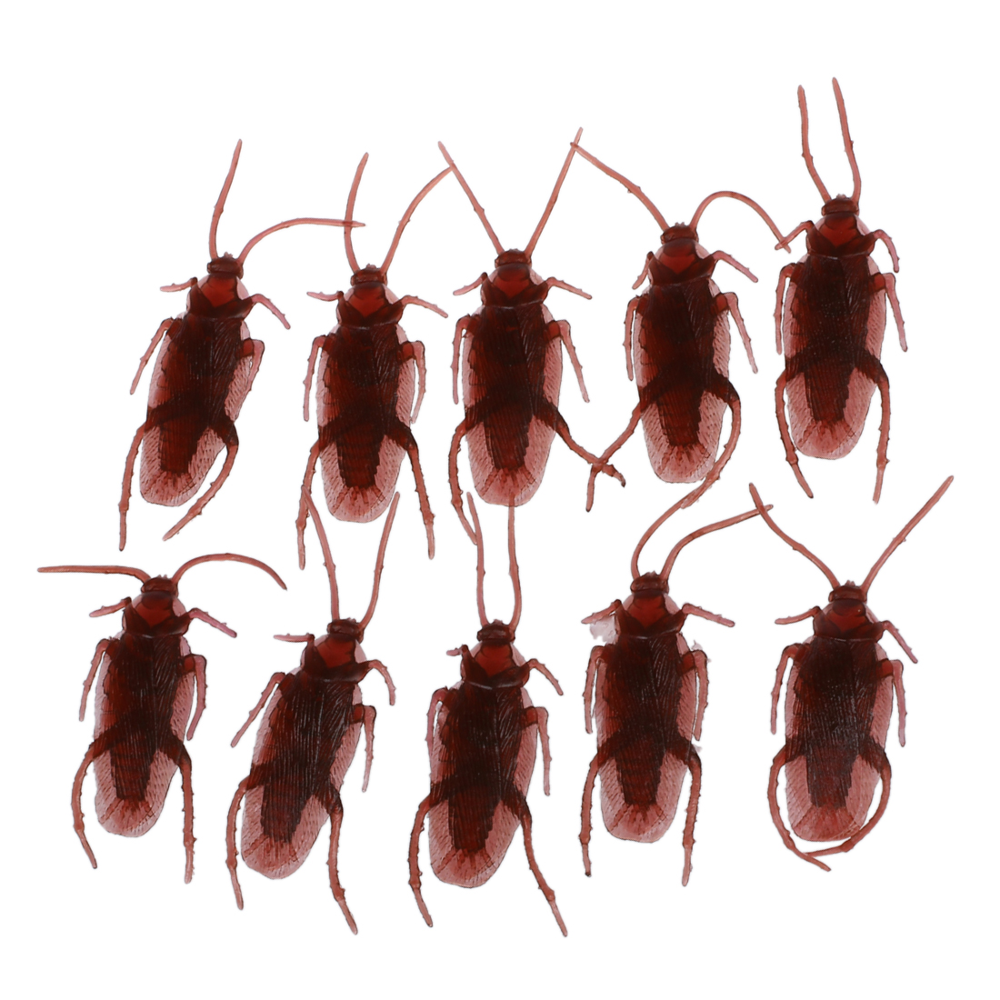 ABWE Best Sale 10 Fake Roaches Prank Novelty Cockroach Bugs Look Real