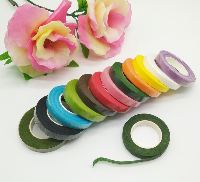 Diy Craft Adhesive Floral Paper Tape Nylon Stocking Flower