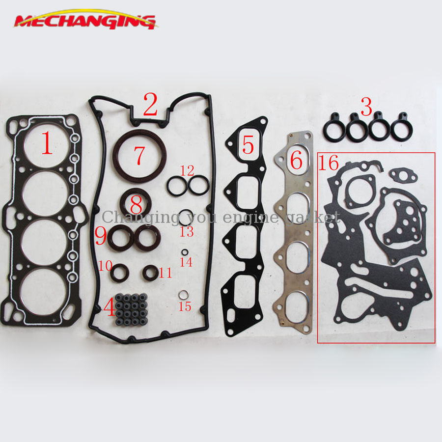US $36 8 8% OFF Fit CHRYSLER GALANT TURBO 16V (Canada) Engine Head Gasket  Sets 4G63 4G63T CAR Automotive Spare Parts Overhaul Package MD997474 on