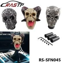 Universal Skull Head Car Gear Shift Knobs Resin /Aluminum Gear Manual Transmission Gear Shift Knob Shifter Lever RS-SFN045 personalized hat skull shape resin gear shift knob silver grey
