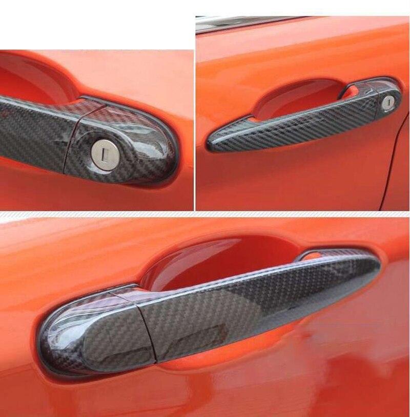 100% en fibre de carbone véritable extérieur Automatique couvercle de poignée de porte pour BMW 1 2 3 série F87 F20 F21 F22 F23 E90 E92 E93 F30 F35 F34 style de voiture