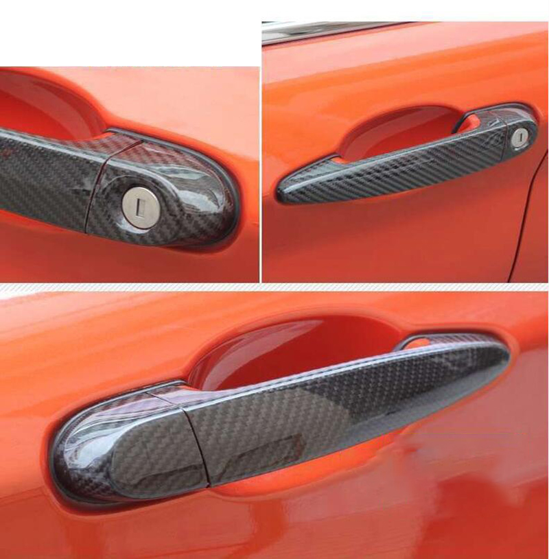 100% real carbon fiber Auto outer door handle cover for BMW 1 2 3 series F87 F20 F21 F22 F23 E90 E92 E93 F30 F35 F34 car styling image