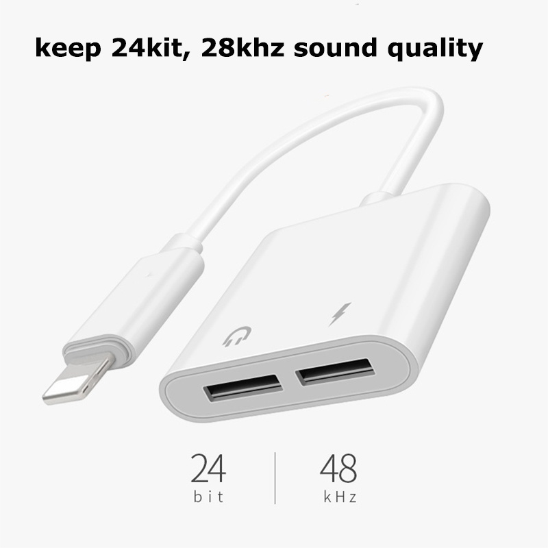 Iphone earbuds adapter iphone 8 - headphone splitter for iphone 8