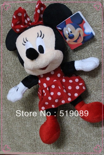 Free Shipping 1pcs Minnie Mouse Plush Animal Toys,28cm Minnie Plush Dolls For Christmas Gifts,kids gifts