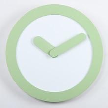 12 Zoll Minimalistischen Kreative Wand Runde-uhr Stumm MDF + ABS Metall Wanduhr Quarzwerk Uhr Factory outlets