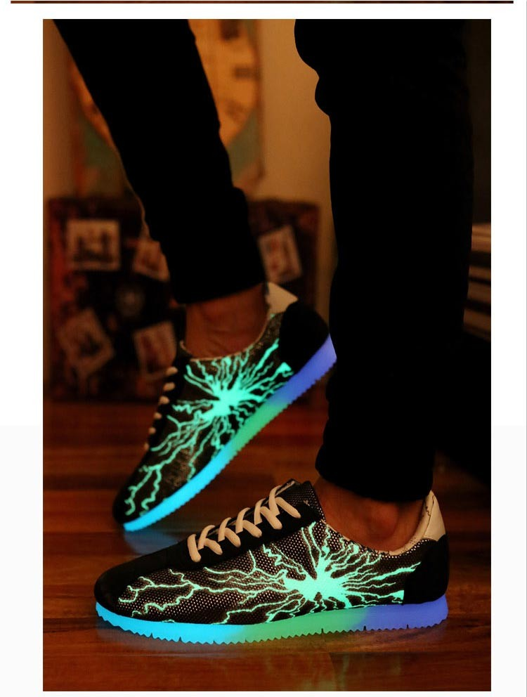 2015 new men women casual shoes lightning shoes led luminous shoes for adult  fashion fluorescent glowing Shoes chaussure  DT64 (6)