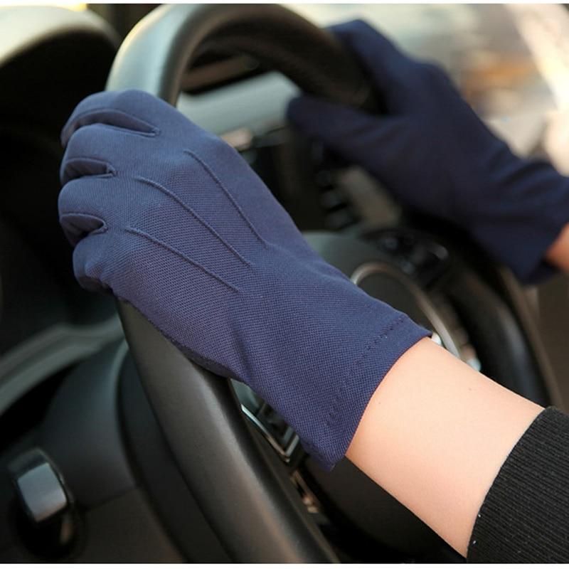 2020 Summer Sun Protection Gloves Male Thin Breathable Anti-Slip Driving Gloves Anti-UV Full Fingers Man Mittens SZ105W1