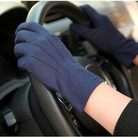 Guantes con protección solar para hombre, manoplas finas y transpirables antideslizantes para conducción, Anti-UV, dedos completos, SZ105W1