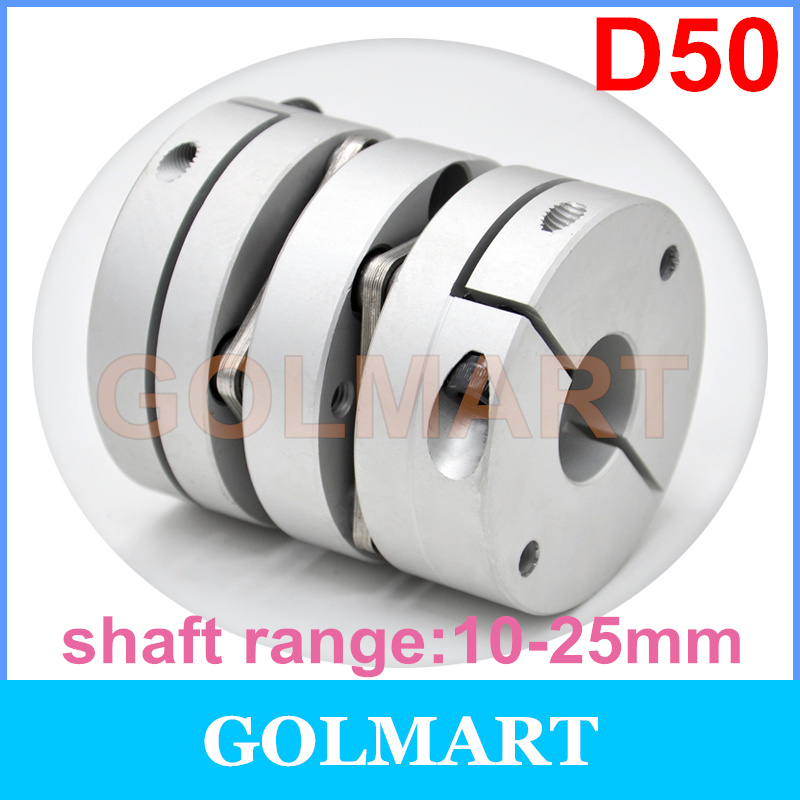 US $15 4 |Dia 50mm double Disc Coupling 25N m 12mm14mm 15mm 16mm 17mm 18mm  19mm 20mm 22mm 24mm 25mm Bore Size Motor Shaft Disk Coupler-in Shaft