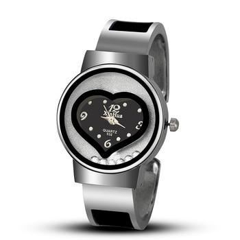 2020 New Hot Sell XINHUA Bracelet Watch Women Blue Luxury Brand Stainless Steel Dial Quartz Wristwatches Ladies Fashion Watches