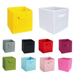 New Non-Woven Fabric Folding Cabinet storage box toys organizer clothes storage bin for Underwear Bra Socks with handle chest