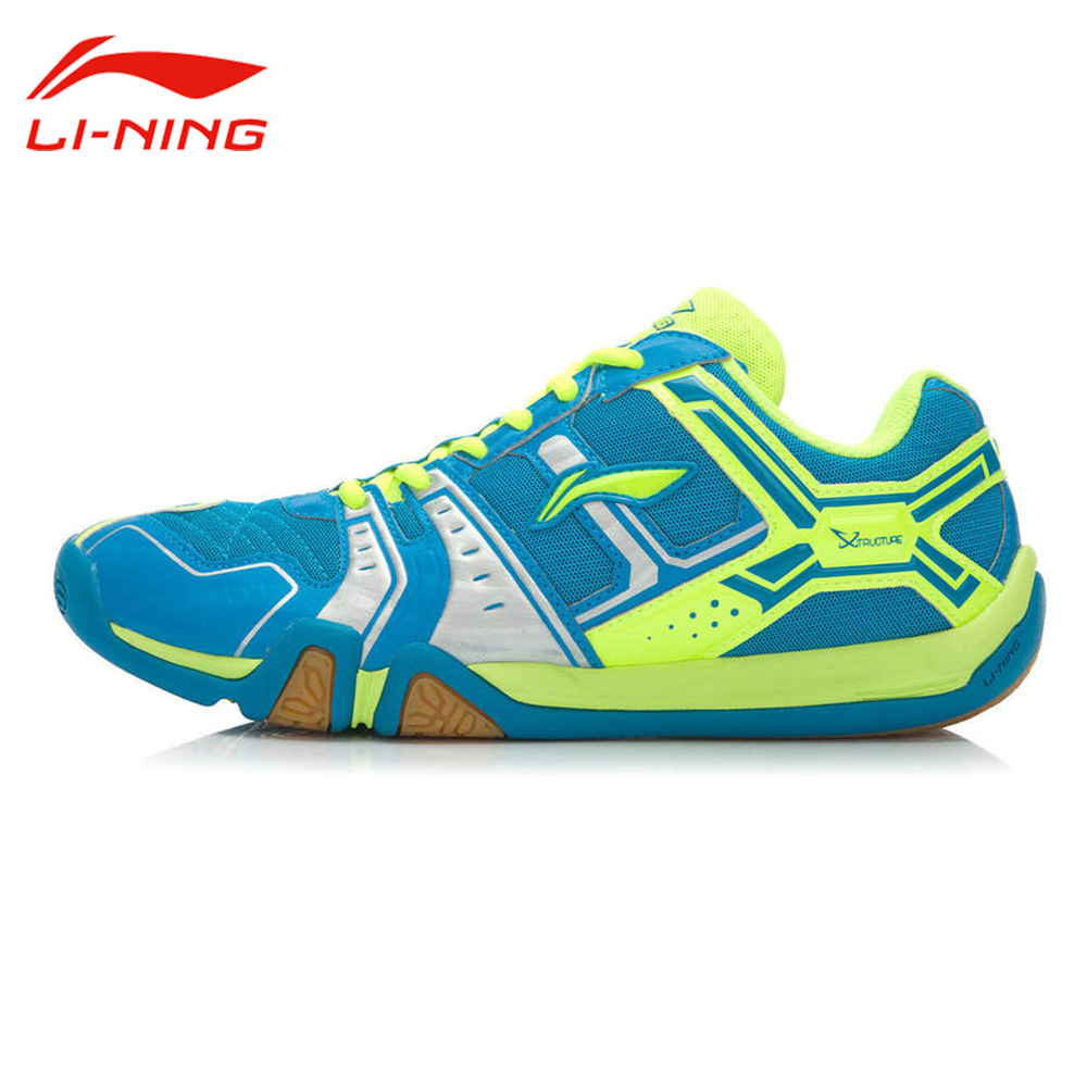 Li-Ning Men's Badminton Shoes Li Ning Anti-Slippery Damping Outdoor Sports Sneakers AYTM085 original li ning men professional basketball shoes