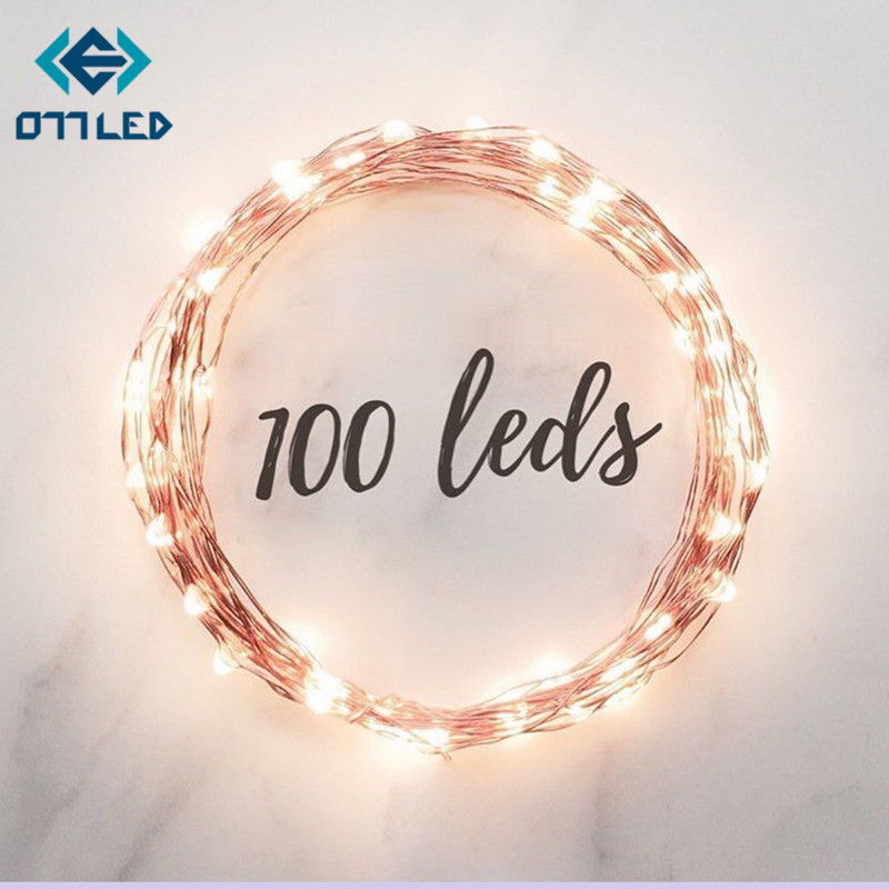 New 1M 2M 5M Copper Silver Wire LED String lights Waterproof Holiday lighting For Fairy Christmas Tree Wedding Party Decoration ...