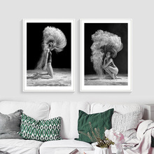Powder Girls Canvas Art Print Poster, Ballet Dancers Wall Picture Large Painting No Frame HD2398