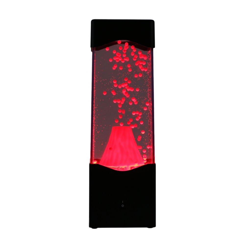 LED Night Lights Lamp Volcano Eruption Water Ball Aquarium Tank  Relax Bedside Mood For Home Decoration Magic DIY Gift