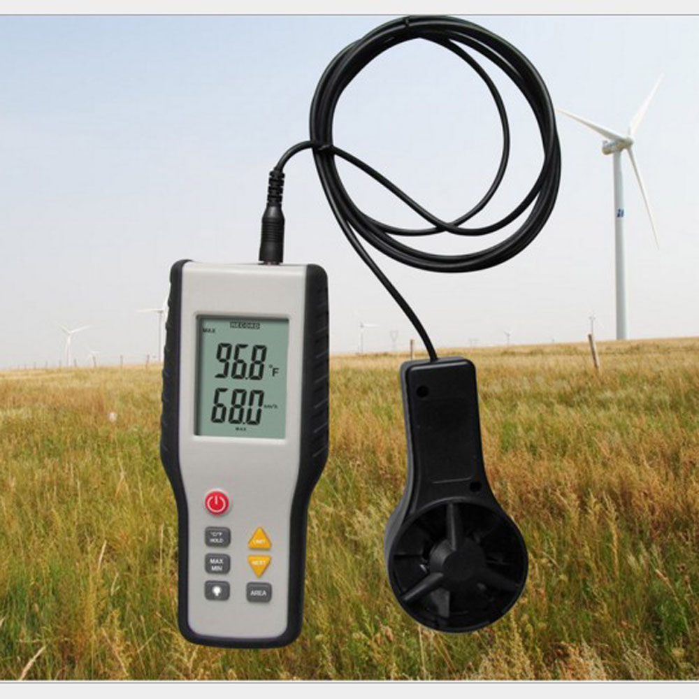 LCD CFM/CMM Display Anemometer Thermal Thermo-Anemometer Infrared Thermometer velocity / Wind Speed Anemograph anemometro