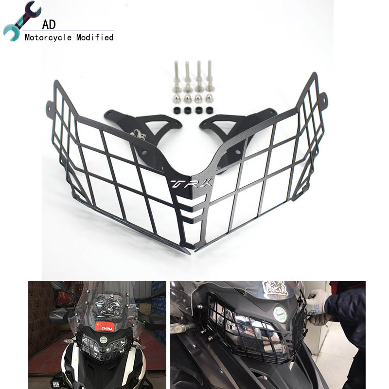 For Benelli TRK502 Headlight Guard Protector Grille Covers For Bennlli TRK 502 Moto Parts Motorcycle Accessories # lacywear u 8 trk