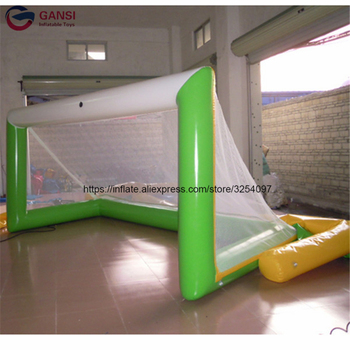 Factory price 3*1m inflatable football kicking gate game,soccer training equipment inflatable beach soccer court