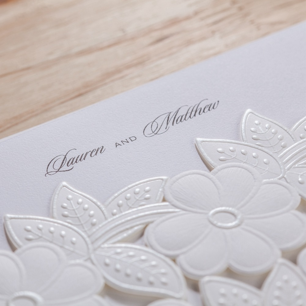 Aliexpress.com : Buy CW5170 white laser cut wedding invitation free ...