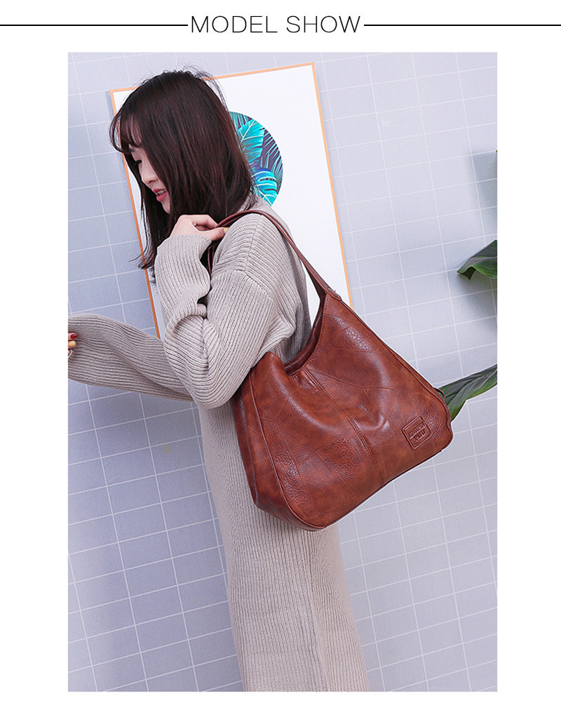 2019 Vintage Women Shoulder Bag Female Causal Totes Bags Large Capacity Luxury Designer High Quality Ladies Handbag Sac Femme 13