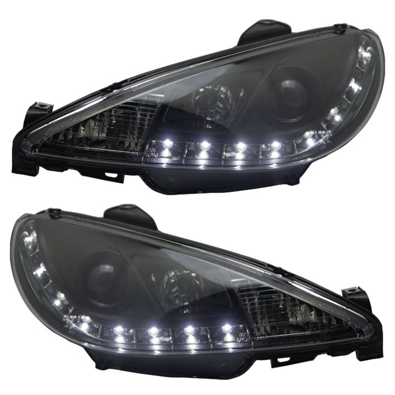 for Peugeot 206 Headlight 2004-2008 V2 LED Line light цены онлайн