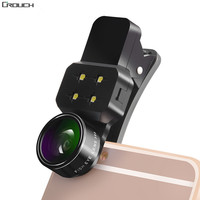 Crouch Lens 4 In 1 Mobile Phone Lens Fish Eye Ultra Wide Angle Macro Lenses For