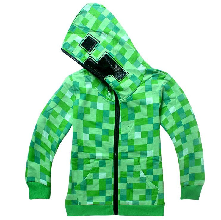 Spring Minecraft Jacket for Boys Children Clothing Cartoon Outwear Streetwear Cotton Hoodies Kid Clothes Spider-man Winter Coat