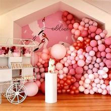 лучшая цена 100pcs/lot Clear Balloons Matt Balloons colorful Happy Birthday Baby Shower Wedding Party Decorations very popular beautiful