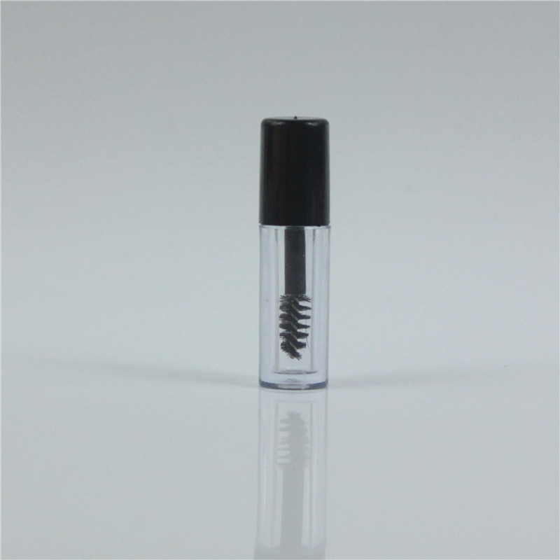 50pcs/lot 0.8ml Mini Mascara Tube Eyelash Vial Liquid Bottle Container Eyeliner Make Up Tube Cosmetic Container With Black Lid