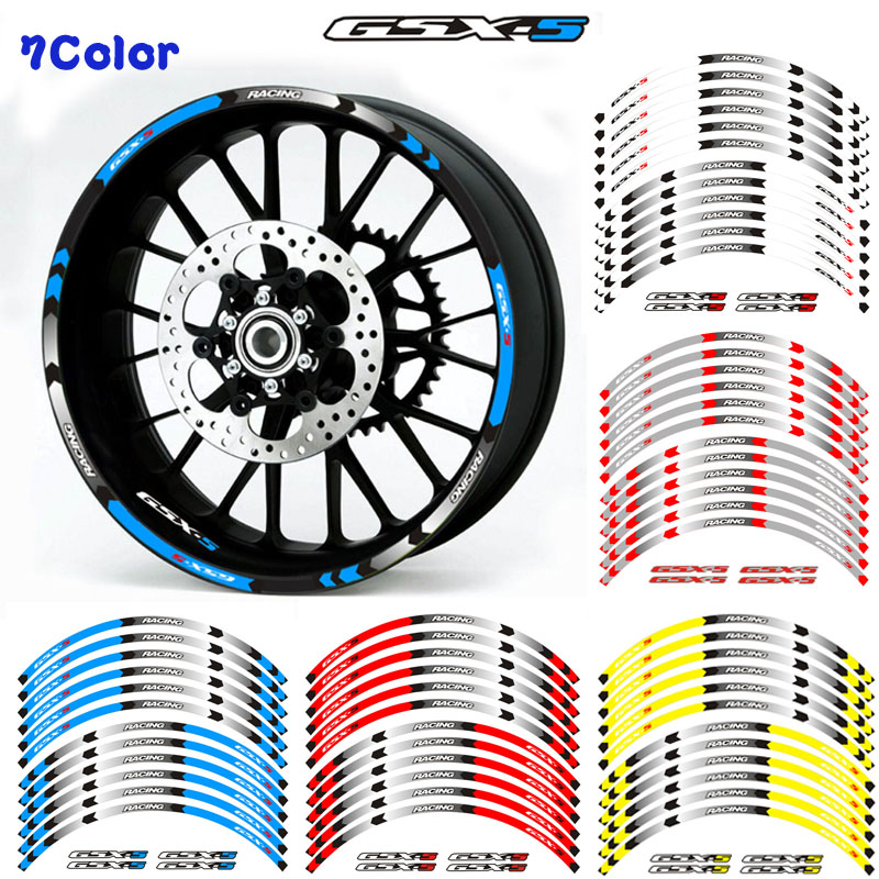 New High Quality 12 Pcs Fit Motorcycle Wheel Sticker Stripe Reflective Rim For Suzuki GSX-S GSX-S750 GSXS1000 750 1000 Gsxs