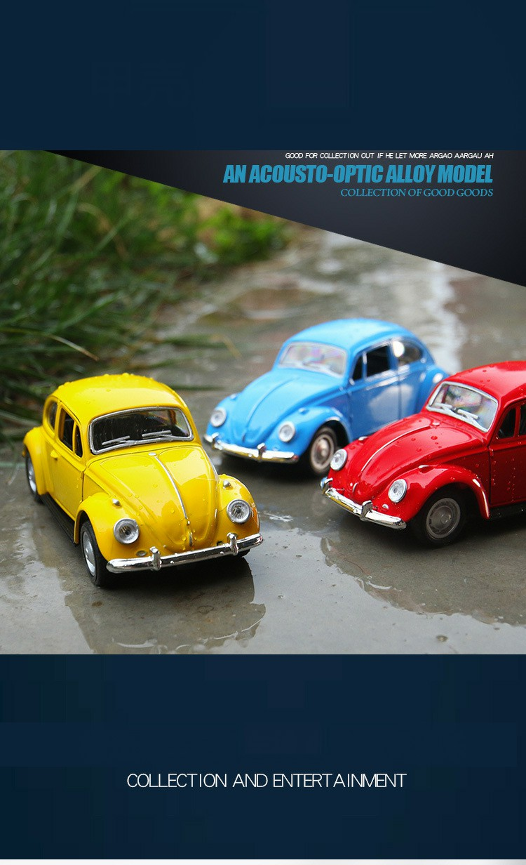 Retro Classic Volkswagen Beetle Model Toy Car 6