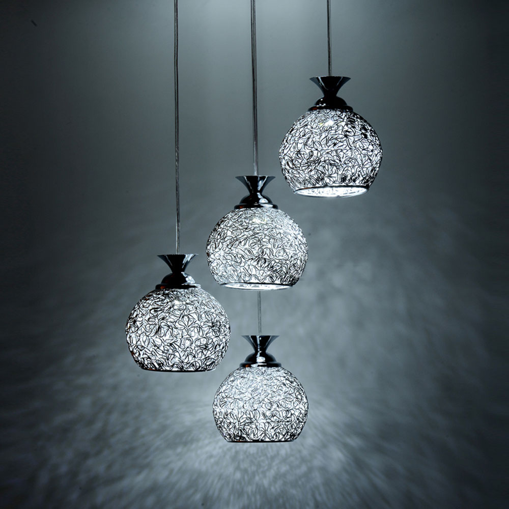 Aliexpress.com : Buy 4 Lights Dining Room Aluminum Wire Ball Ceiling ...