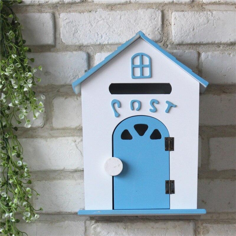 Винтажные настенные полки Organizador, декоративная деревянная коробка, настенный дом, держатель для хранения букв, вешалка для букв, держатель с... - 3