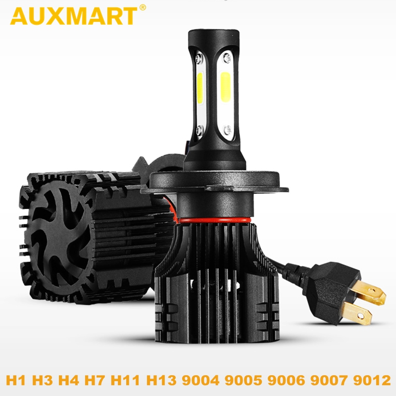 Auxmart Car LED Headlight H4 H7 H11 H1 H3 9005 9006 9007 COB LED Car Head Bulb Light 6500K Auto Headlamp Fog Light s2 h1 h3 h7 h11 9005 9006 cob led car headlight light replacement bulb canbus 6500k auto drl fog driving lamp 72w