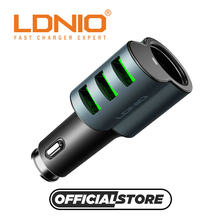 LDNIO cm11 fast auto 3 usb ports car charger adapter for cell/mobile phone and nintendo,new store promotion price car-charger(China)