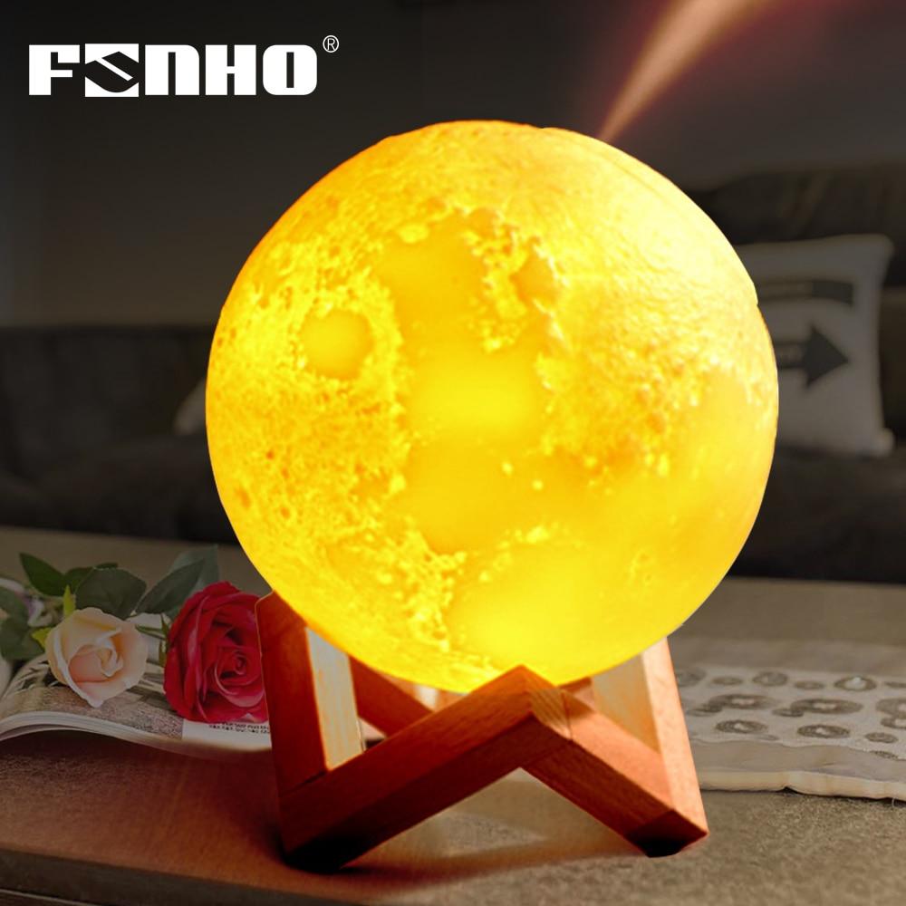 3D Moon Lamp USB 880mL Air Humidifier Aroma Mist Diffuser Purifier Night Light