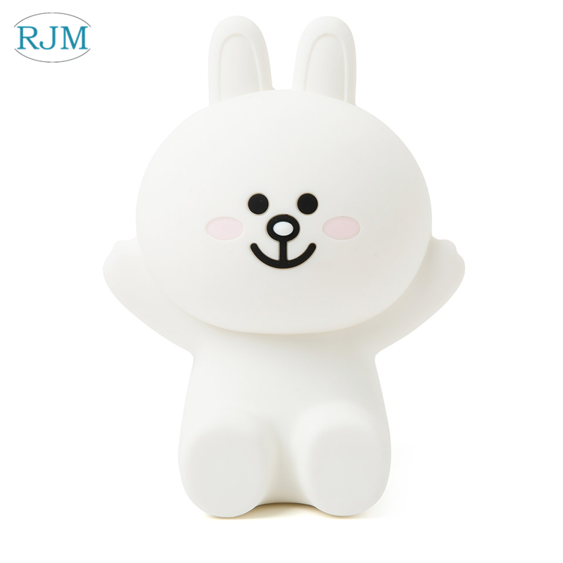 Bear Brown Bunny Cony Night Lights Cute Cartoon LED Night Lamp Kids Bed Table Lamp Lighting Fixtures Children's Gifts Desk Lamps     - title=