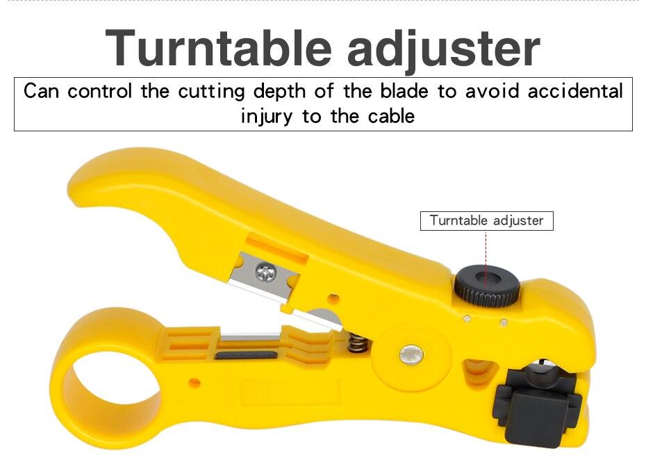 utp stp rg59 rg6 rg7 rg11 multi-funcional cortador str