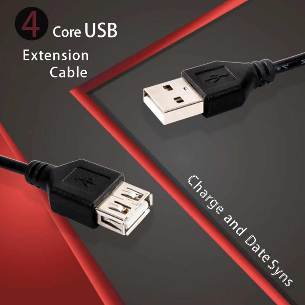 Câble d'extension USB 150/100 cm Super vitesse câble USB 2.0 rallonge mâle à femelle câble de synchronisation des données de charge cordon d'extension