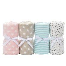 Baby Blankets Newborn Four Seasons Fleece Plush Coral Warm Blanket Baby Stroller Swaddle Wrap Newborn Baby Bed Blanket 75*100cm