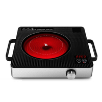 Electrical magnetic Waterproof induction cooker intelligent hot pot stove with timer ceramic induction household cooktop EU