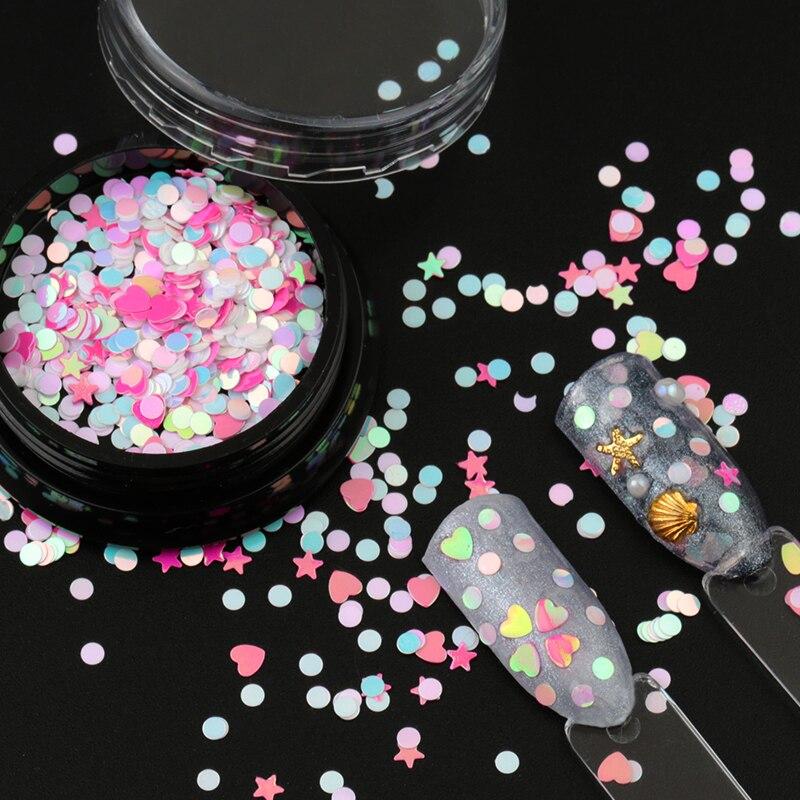 Frank 1 Box Candy Leuchtstoff Nagel Glitter Pailletten Dot Stern Herz Form Tipps Diy Charme Polnischen Flakes Dekorationen Maniküre Direktverkaufspreis Schönheit & Gesundheit