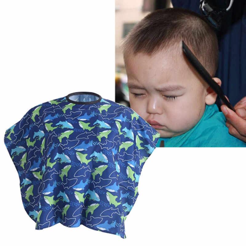 Pielęgnacja włosów dzieci dzieci fryzjer Cape suknia cięcie tkaniny włosy wodoodporny Salon fryzjer szampon Cape fryzjerstwo stylizacja narzędzia