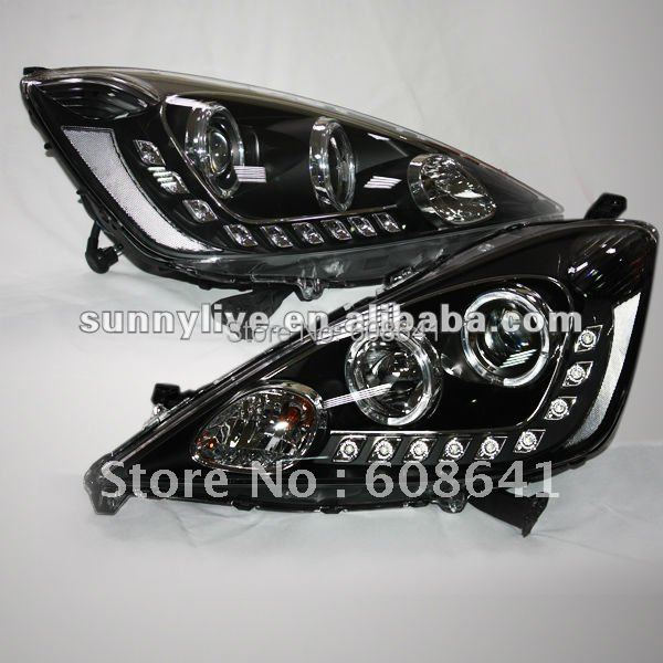 For Fit Jazz LED Angel Eyes Head Lamp 2009 to 2010 year for hyundai sonata angel eyes led head lamp 2009 to 2011 year yz