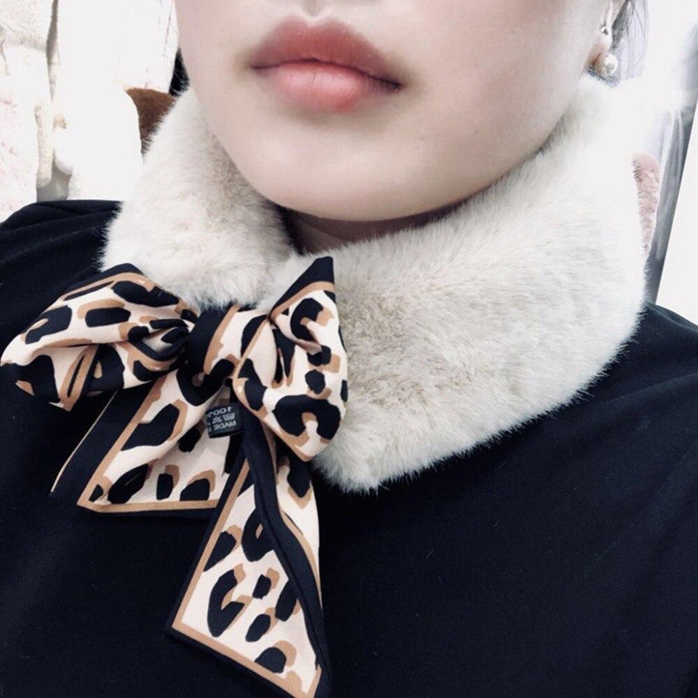 10x105cm Women's Winter Fake Faux Fur   Scarf   Leopard Print   Wrap   Collar