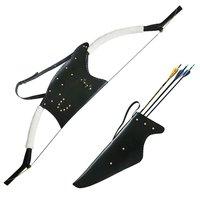 Hunting Bow and Arrow Case Set Leather Waist Belt Archery Arrow Quiver Recurve Bow Case Bag