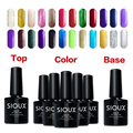 5pcs/lot Color UV Nail Gel Polish + 8ml Base Gel Primer Coat + 8ml Top Gel Sealer Dimand No Cleanse Manicure Cosmetic