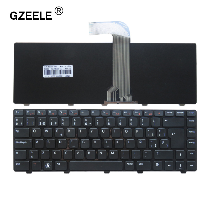 Spanish Laptop Keyboard For DELL Vostro 3550 XPS L502 N4110 N4120 M4110 N4050 M4040 N5050 M5050 M5040 N5040 SP Keyboard Black